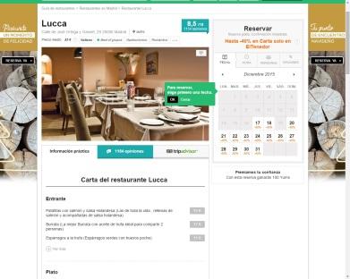 Reservas online en eltenedor.es