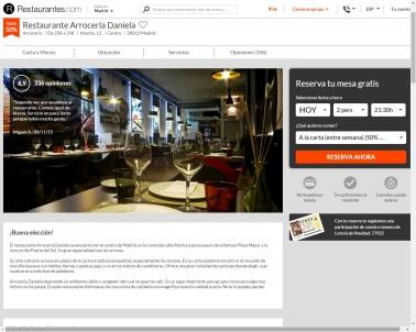 Reservas en restaurantes.com