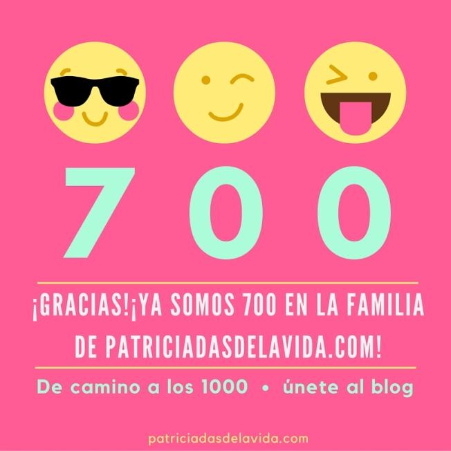 De camino a los mil, ya somos 700 suscriptores patriciadas de la vida