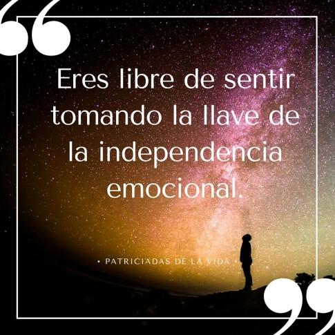 Tú elijes tu independencia emocional